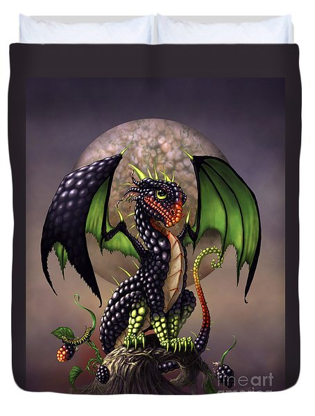 Blackberry Dragon Duvet Cover