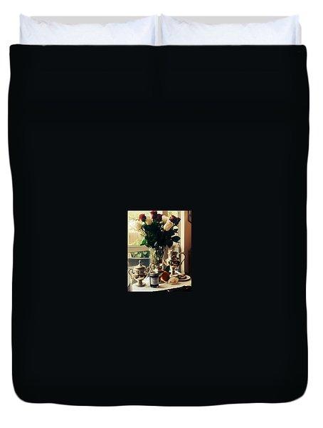 Blackberry Lust Jam Morning Duvet Cover