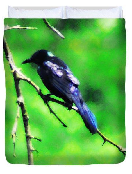 Blackbird Duvet Cover by Bill Cannon