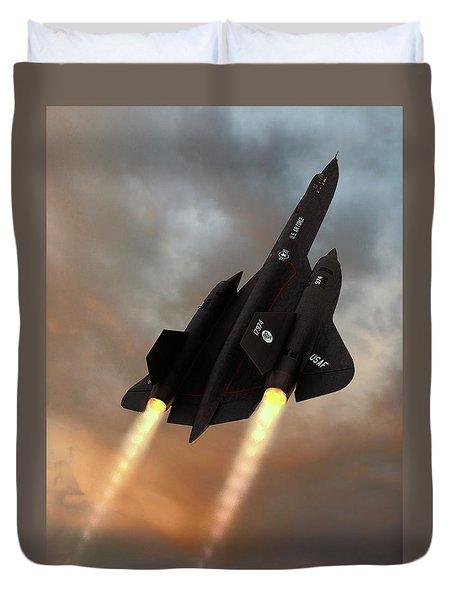 Blackbird Rising Duvet Cover