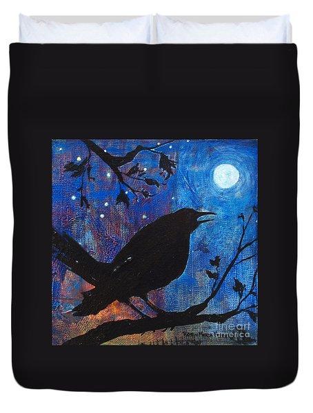 Blackbird Singing Duvet Cover