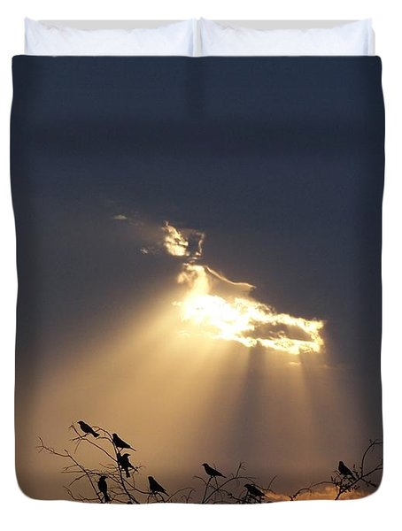 Blackbird Sky Duvet Cover by Gale Cochran-Smith