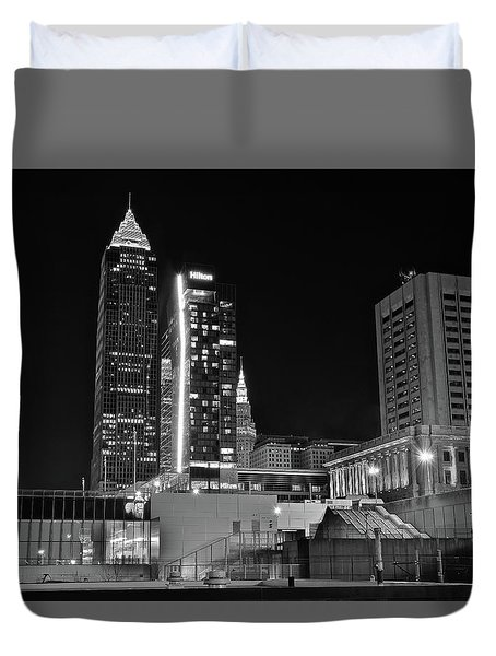 Duvet Cover featuring the photograph Blackest Night In Cle by Frozen in Time Fine Art Photography