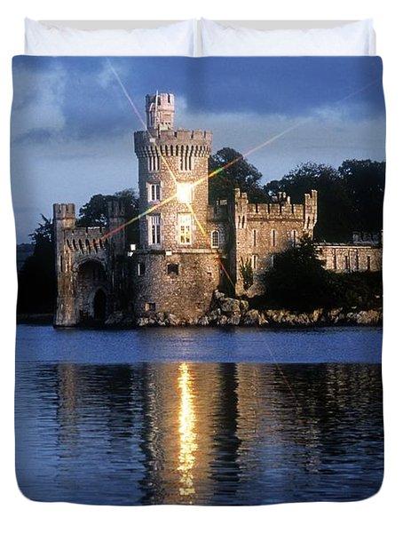 Blackrock Castle, River Lee, Near Cork Duvet Cover by The Irish Image Collection