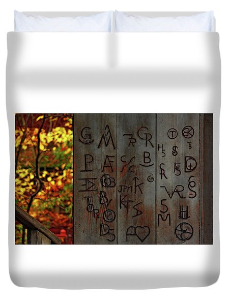 Blacksmith Board Duvet Cover