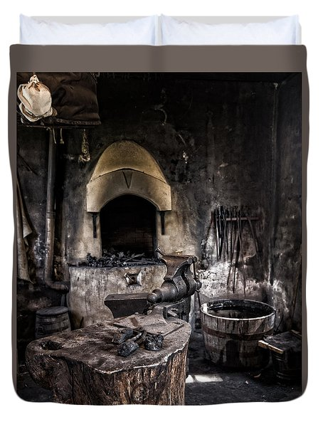Blacksmiths Shop Duvet Cover
