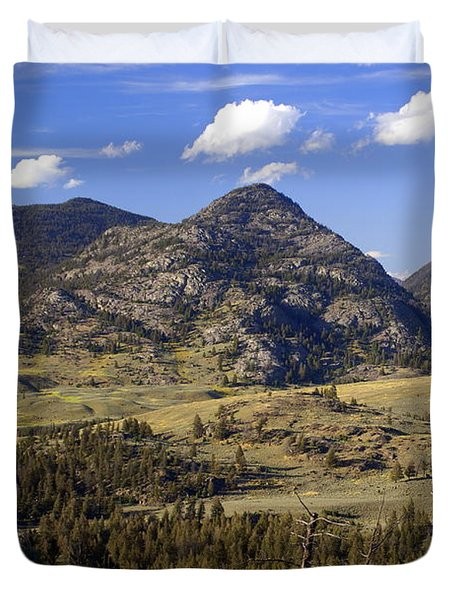 Blacktail Road Landscape 2 Duvet Cover