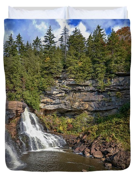 Blackwater Falls  In Autumn 3879c Duvet Cover