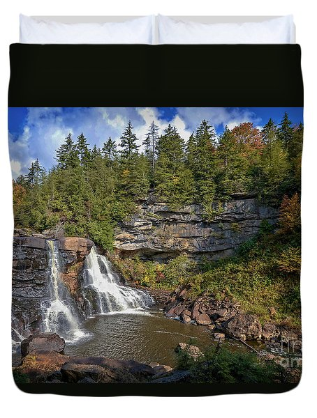Blackwater Falls  In Autumn 3879c Duvet Cover