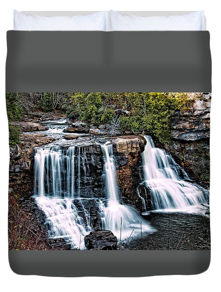 Duvet Cover featuring the photograph Blackwater Falls, West Virginia by Skip Tribby
