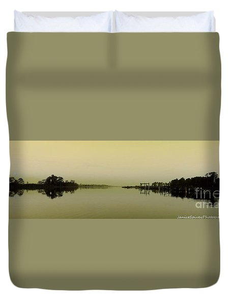 Duvet Cover featuring the photograph Blackwater Morning by Janice Spivey