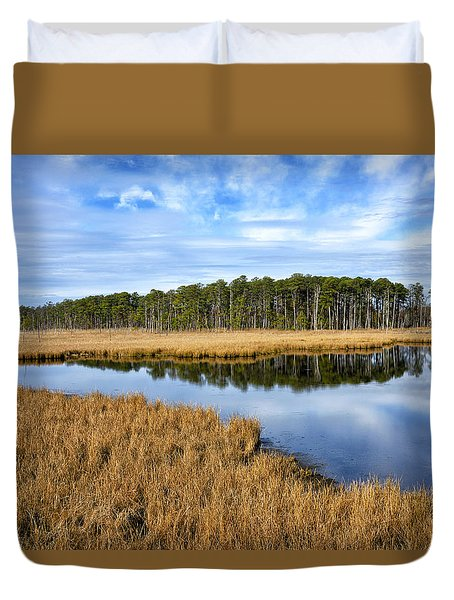 Duvet Cover featuring the photograph Blackwater National Wildlife Refuge In Maryland by Brendan Reals
