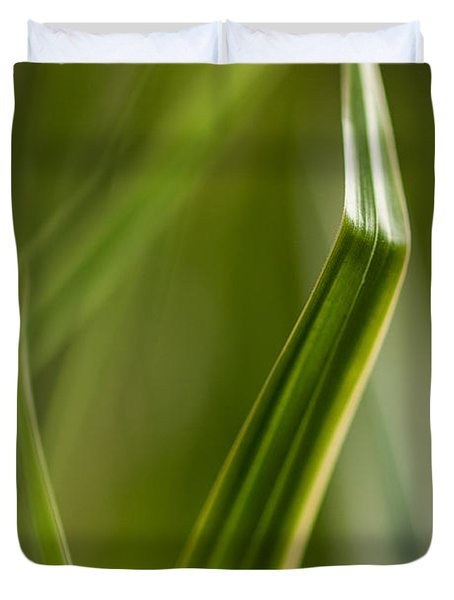 Blades Abstract 3 Duvet Cover by Mike Reid