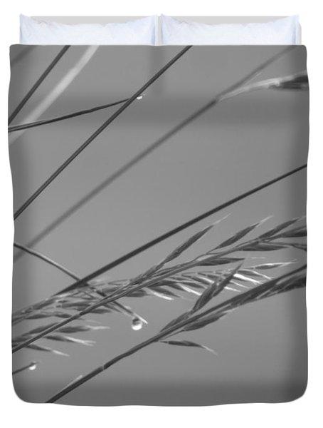 Blades Of Gray Duvet Cover