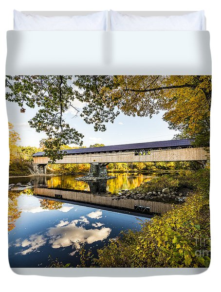Duvet Cover featuring the photograph Blair Bridge by Anthony Baatz