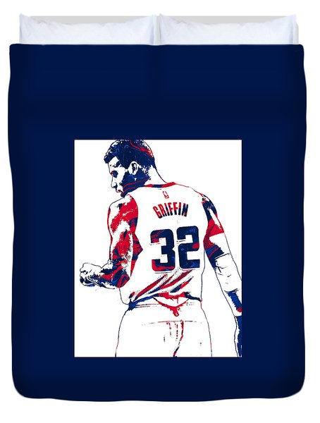 Blake Griffin Los Angeles Clippers Pixel Art 4 Duvet Cover