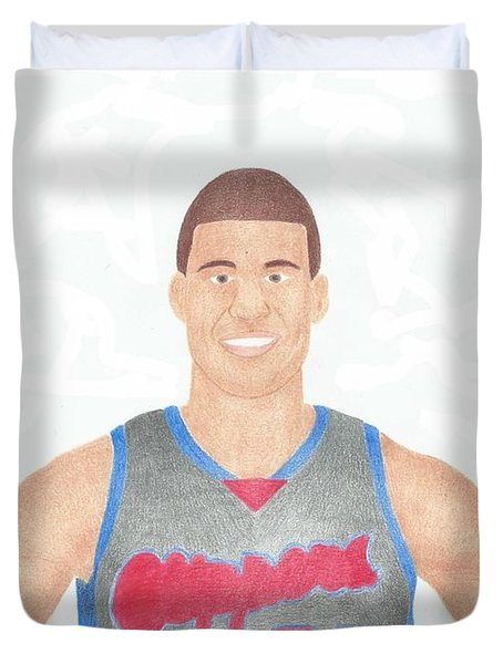 Blake Griffin Duvet Cover by Toni Jaso