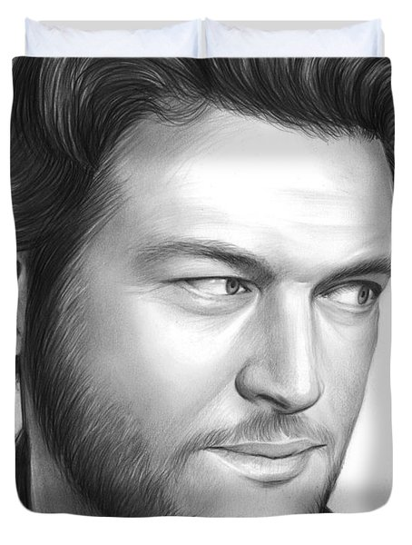 Blake Shelton Duvet Cover by Greg Joens