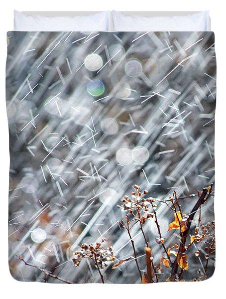 Blame It On The Rain Duvet Cover by Lisa Knechtel