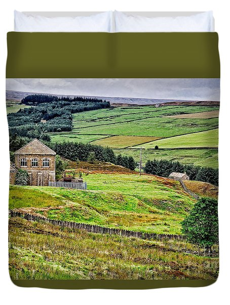 Blanchland Moor Pumphouse Duvet Cover