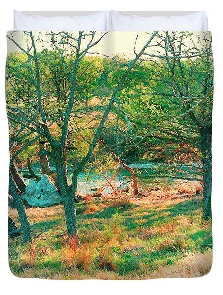 Blanco River Texas Duvet Cover