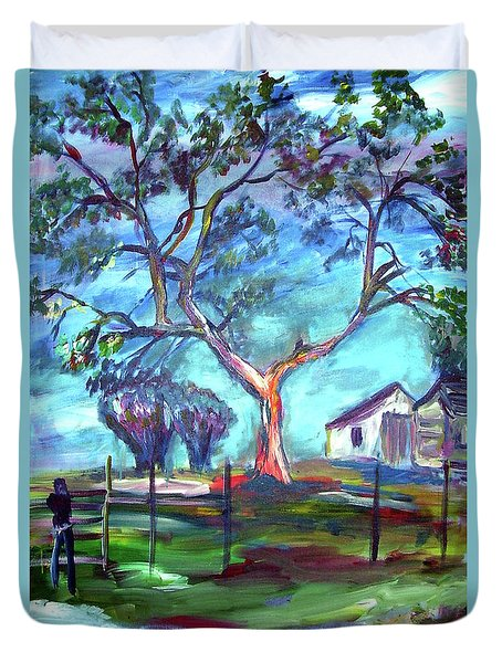 Blanco Texas Ranch House Duvet Cover