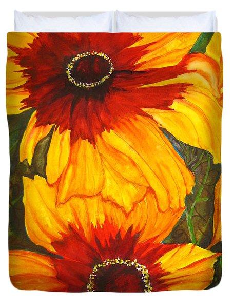 Blanket Flower Duvet Cover by Lil Taylor