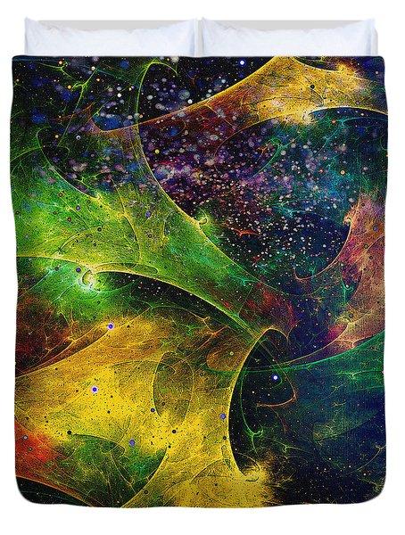Duvet Cover featuring the digital art Blanket Of Stars by Klara Acel