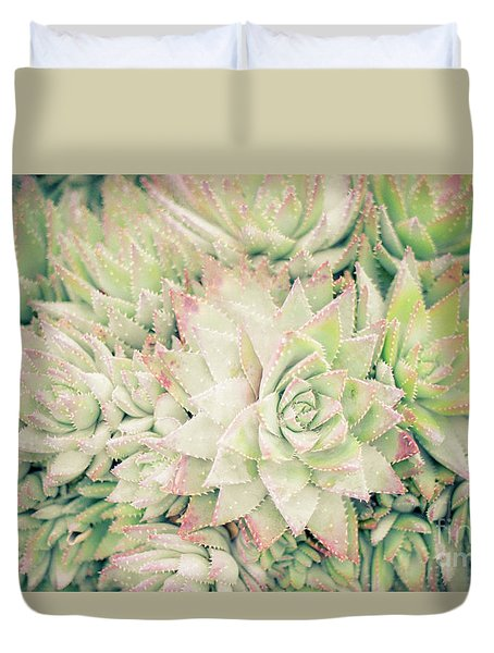 Duvet Cover featuring the photograph Blanket Of Succulents by Ana V Ramirez