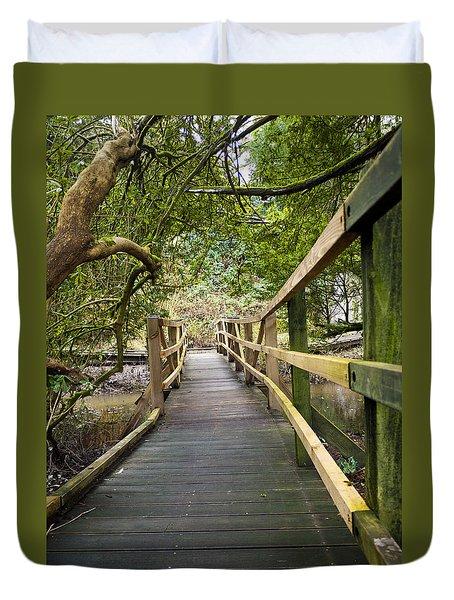 Blarney Boardwalk Duvet Cover by Rae Tucker