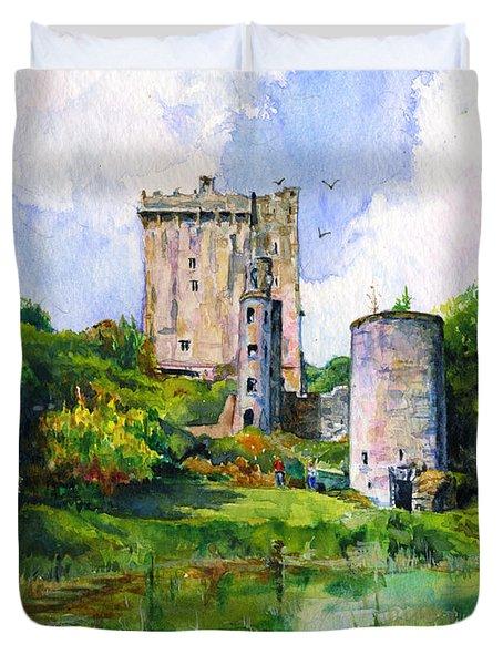 Blarney Castle Landscape Duvet Cover