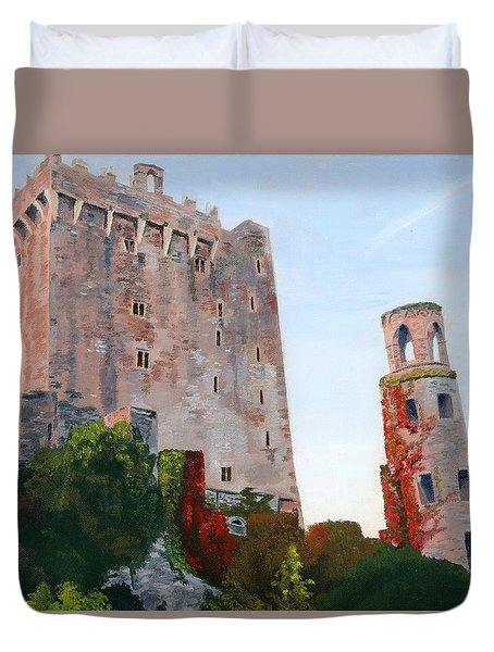 Duvet Cover featuring the painting Blarney Castle by Lynne Reichhart