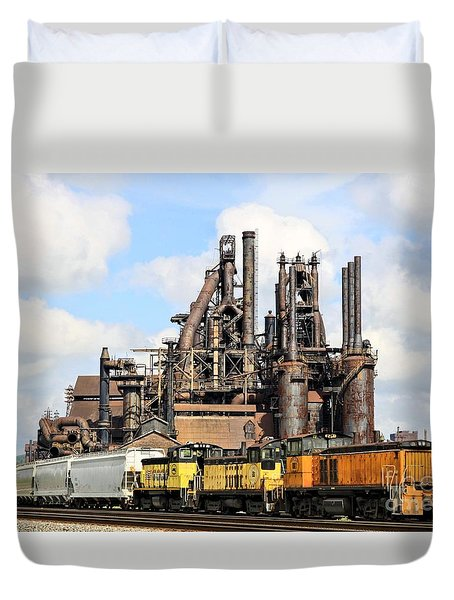 Blast Furnaces Of South Bethlehem Duvet Cover