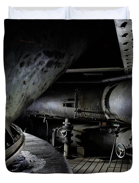 Duvet Cover featuring the photograph Blast Furnace Piping by Dirk Ercken