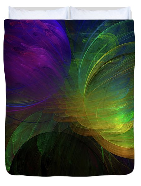 Blast Of Color Abstract Duvet Cover