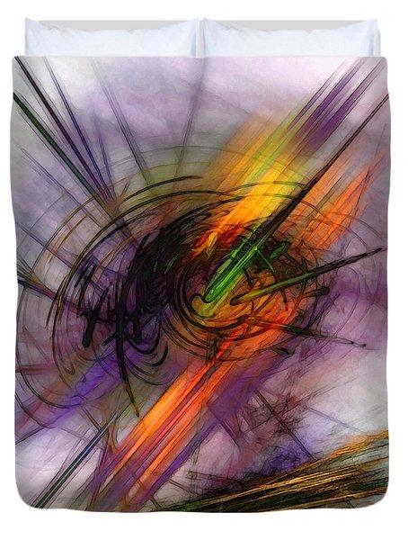 Blazing Abstract Art Duvet Cover
