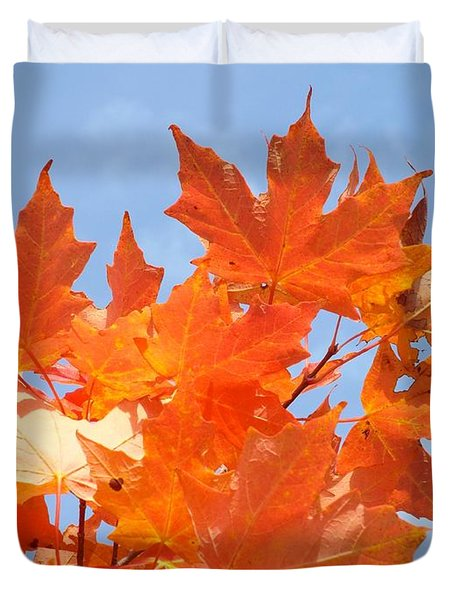 Blazing Maple Duvet Cover