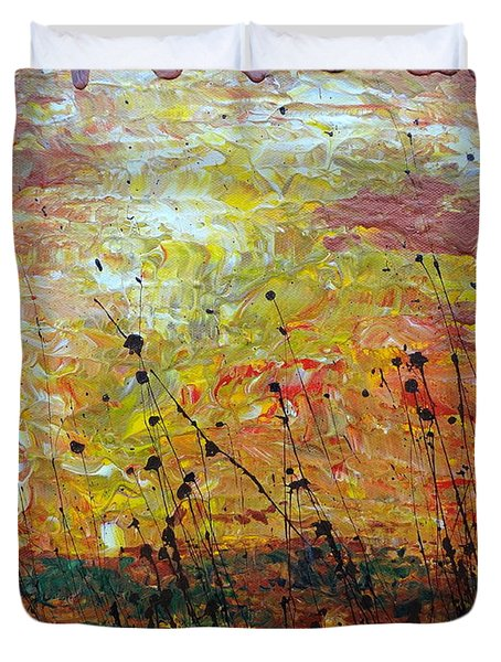 Blazing Prairie Duvet Cover