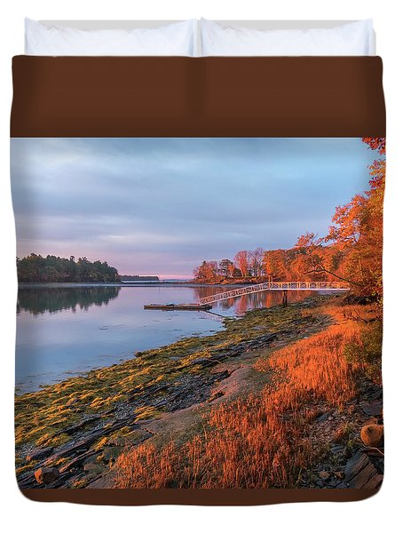 Blazing Shore Duvet Cover
