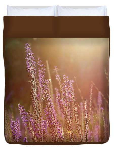Blazing Star And Bees Duvet Cover