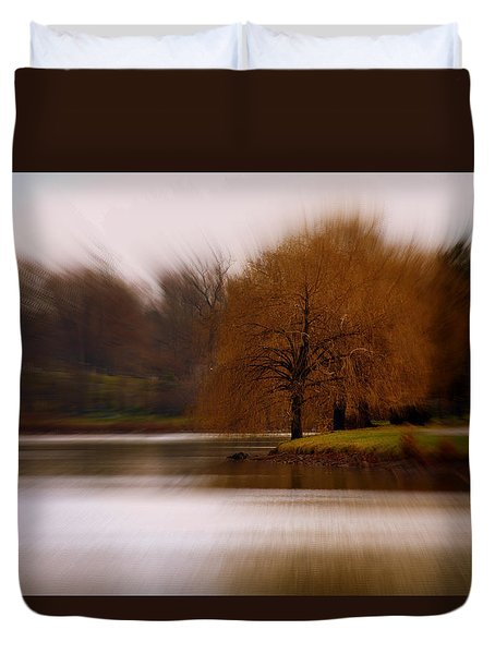 Duvet Cover featuring the photograph Blazing Zoom by Richard Ricci