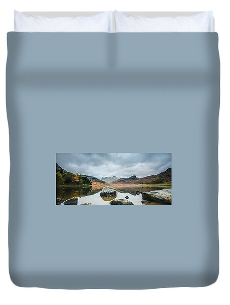 Blea Tarn In Cumbria Duvet Cover