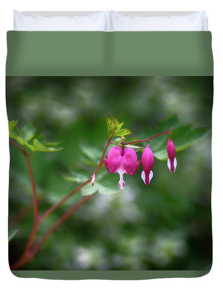 Bleeding Hearts Duvet Cover