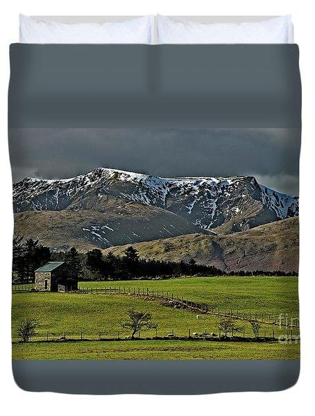 Blencathra Mountain, Lake District Duvet Cover