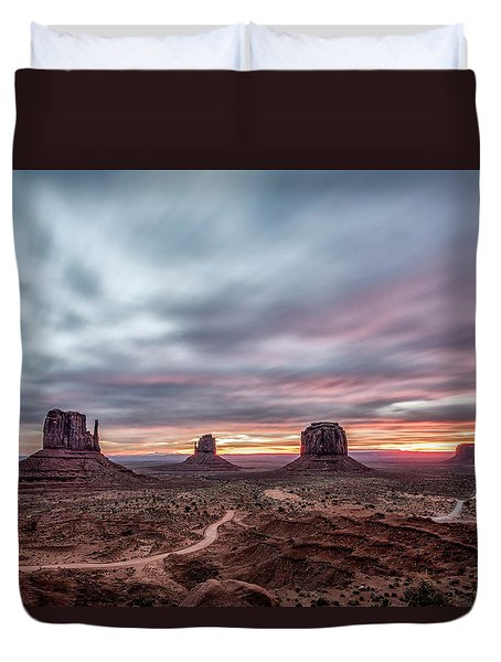 Blended Colors Over The Valley Duvet Cover