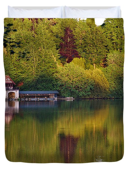 Blenheim Palace Boathouse 2 Duvet Cover