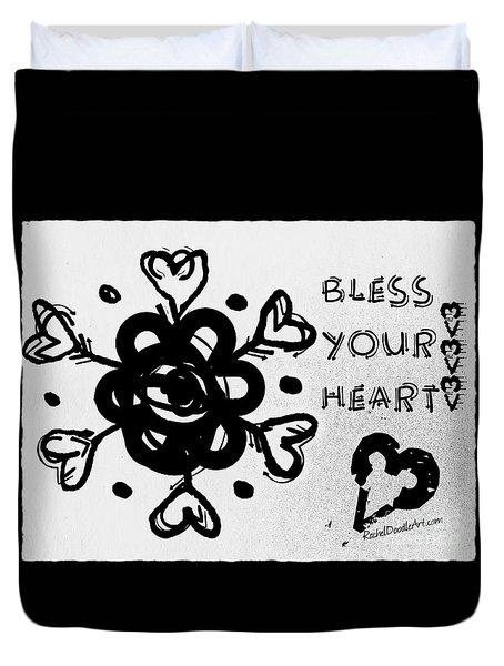 Bless Your Heart Duvet Cover