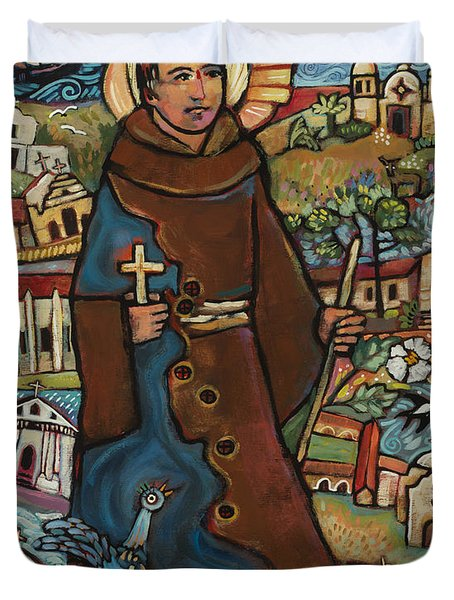 Blessed Junipero Serra Duvet Cover