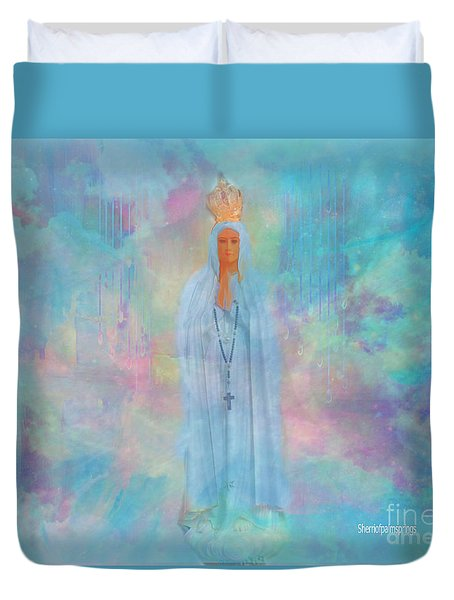 Blessed Mother Of Jesus Duvet Cover