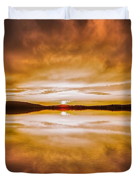 blessed Sight Duvet Cover by Rose-Maries Pictures